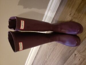 Hunter Boots Size 10 Adjustable