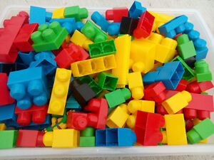 Small bin of large sized Lego