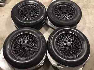 """16"""" black summer tires and rims"""