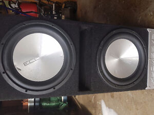 Duel competition subs  1500w each