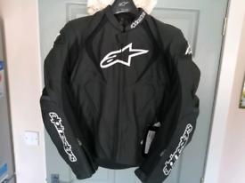 Alpine Stars Jaws leather motorcycle jacket