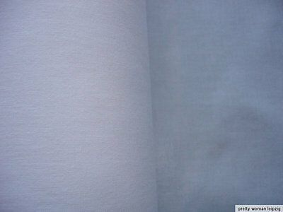 1 Lfm Aufbügelstoff 2,21€/m² Bügelflicken 150cm breit, weiß Baumwolle