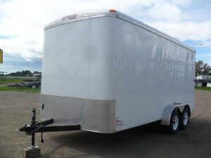 Used 2014 7'x16'x7'high Enclosed TNT Trailer