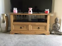 Wooden tv unit and coffee table