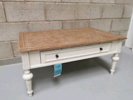 Montpellier Shabby Chic White Painted Wooden Coffee Table