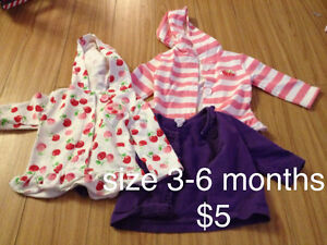 Girls 3-6 month sweaters
