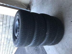 Michelin Winter tires studless 195/65R 15 and with steel rims