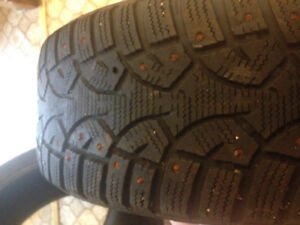 Two studded winter tires 205/55 R16