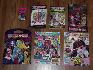 MONSTER HIGH BOOKS/ MAGAZINES AND ACTIVITY BOOKS $10 for all