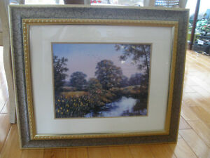 BEAUTIFUL VINTAGE POYNTON FRAMED MATTED MEADOW PRINT