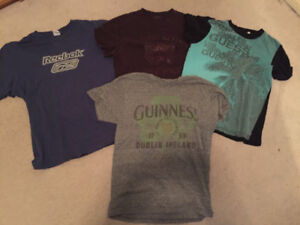 Vintage shirts package (reebok,guess,Calvin Klein and guiness)