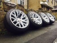 Genuine 3SDM 0.01 Alloy Wheels & Tyres 5x112 VW AUDI SEAT GOLF LEON A3 A4 A5