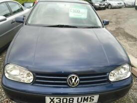 2000 VOLKSWAGEN GOLF 1.4 S 5dr WULL COME WITH FULL YEARS MOT TRADE IN TO CLEAR