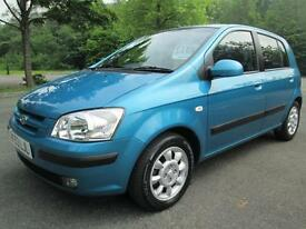 03/53 HYUNDAI GETZ 1.6 CDX AUTOMATIC 5DR HATCH IN MET BLUE
