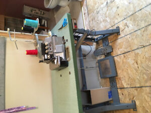 Sewing machine and serger pair