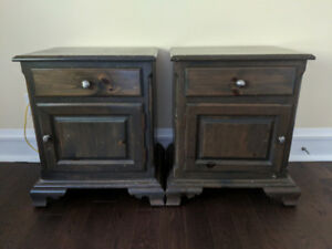 Two solid pine bedside tables for sale