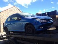 05 PEUGEOT 206 ZEST 2 3 DOOR HATCH BLUE - 1.4 PETROL ENGINE KFW - BREAKING SPARES PARTS