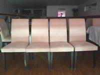 Restaurant chairs / dining chairs x 29 faux suede