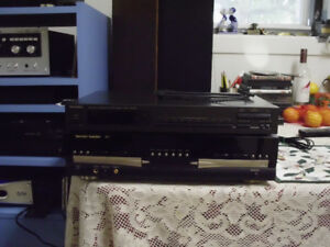 TECHNICS TUNER, AMP, SPEAKERS WITH STANDS