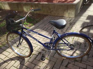 """Ladies single speed, Raleigh, 26"""", Good condition, with lock."""