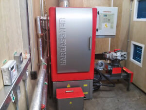 Hargassner Woodchip Boiler and Laimet Chipper Combo