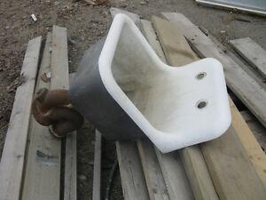 Large antique cast iron sink