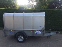 Ifor Williams 8x5 trailer with livestock canopy