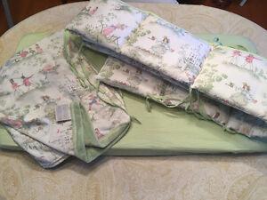 3p beautiful nursery rhyme printed cradle bedding and mattress Kitchener / Waterloo Kitchener Area image 1