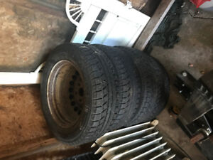 195/65R15 Winter rims and Studded  tires 5 x 112mm bolt pattern