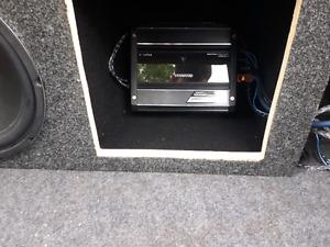 Sub. Amp. Custom box.