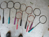 badminton racquets  11 in all
