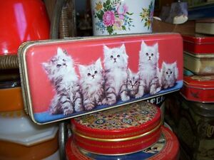 Vintage Thorne's Toffee Tin from England  w Cats Kitten