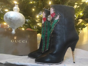 Gucci Flower Intarsia Boots Size 37 1/2 (7US)