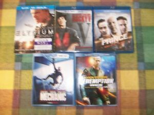 5 BLURAY/DVD COMBOS                           FOR SALE