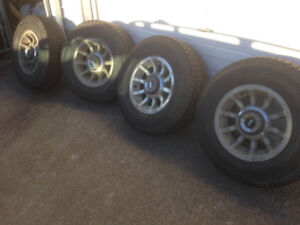 4 JEEP WINTER TIRES WITH RIMS FOR SALE!!
