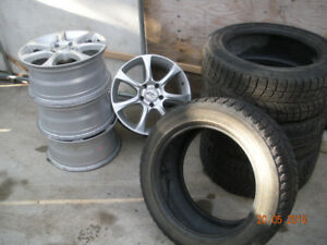 winter tire with mags for sale 225/55 R17 97R