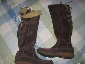 Ladies long suede timberland boots...