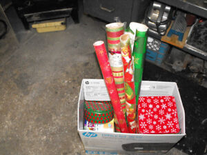 Box of Xmas cans & wrapping paper REDUCED