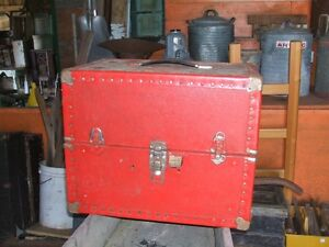 Red tool storage box or other storage usage