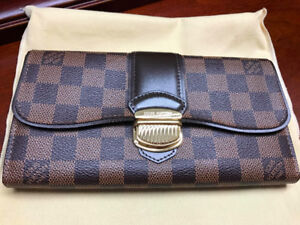 Authentic Louis Vuitton Sistina wallet in Damier Ebene