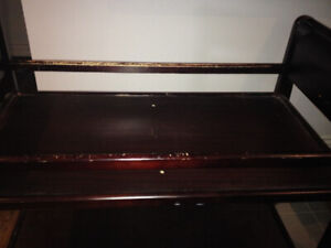 Baby Change Table solid wood 2 tier - Scratches on railings