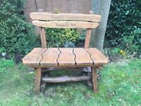 Garden bench sanding and re-staining service. Free quotes in the Vale area.