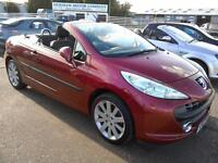 2007 Peugeot 207 CC 1.6 GT Convertible 66K FSH Red Aircon Excellent Condition