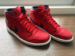 Air Jordan 1, Mid, Red/Black, US 10, Authentic [Great Condition]