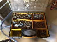 Boxes of different size screws & fixings
