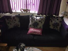 Dfs sofa 2x four seater plus foot stool