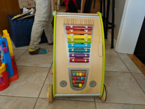 Wooden walker and activity board