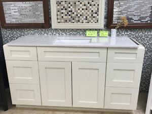 C-L-E-A-R-A-N-C-E vanity cabinet demos in showroom!!