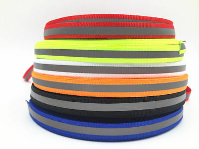 Diy 5-100y 10mm Reflective Tape Strip Sew-on Fabric Trim Safty Vest 10mm New