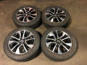 JDM HONDA 2010+ MAGS WITH WINTER TIRES CONTINENTAL 205/55R16